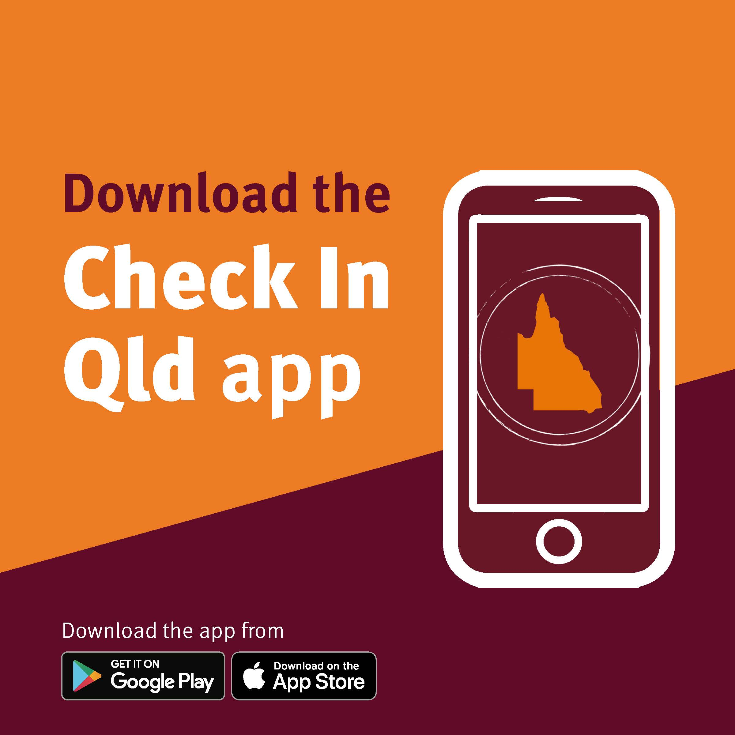 Check in Qld app